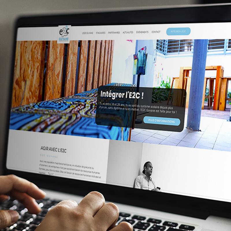 Refonte du site Internet E2C Guyane