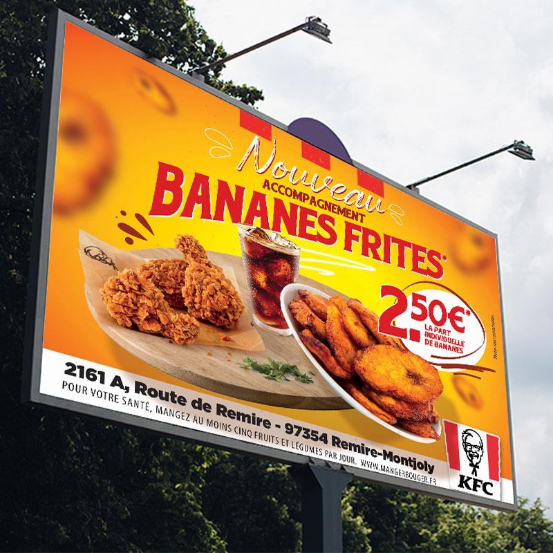 Campagne 4X3 – Lancement Bananes Frites KFC